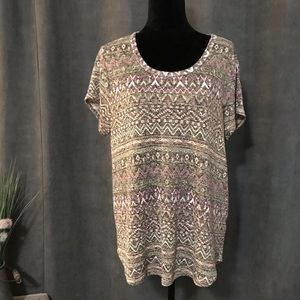 Absolutely Famous Short Sleeve Sweater, Size 1X